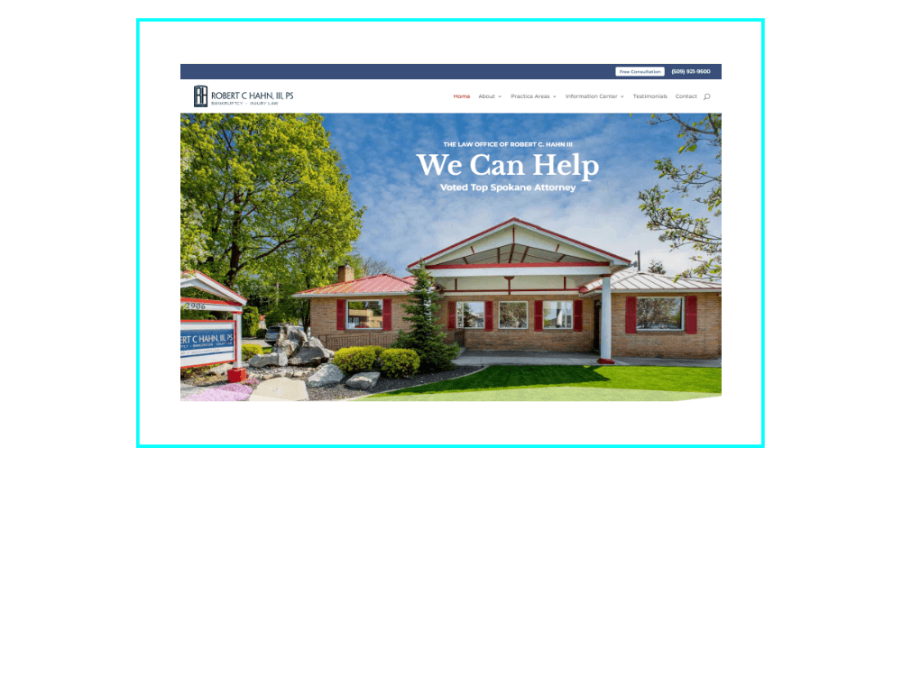 Screenshot of The Law Office of Robert C. Hahn, III website