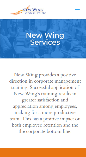 New Wing Consulting - mobile screenshot