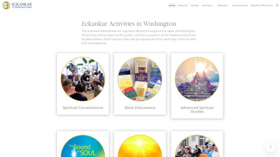 Eckankar in Washington State -  desktop screenshot - activities
