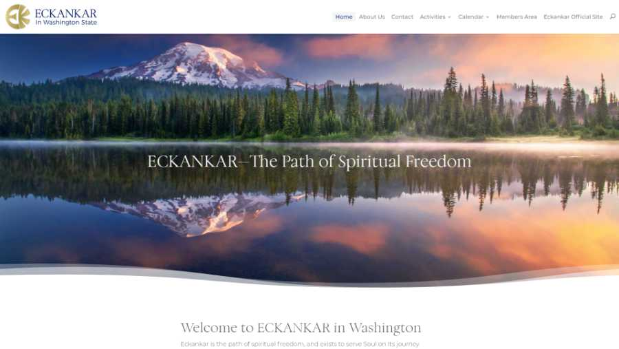 Eckankar in Washington State -  desktop screenshot - hm page - splash