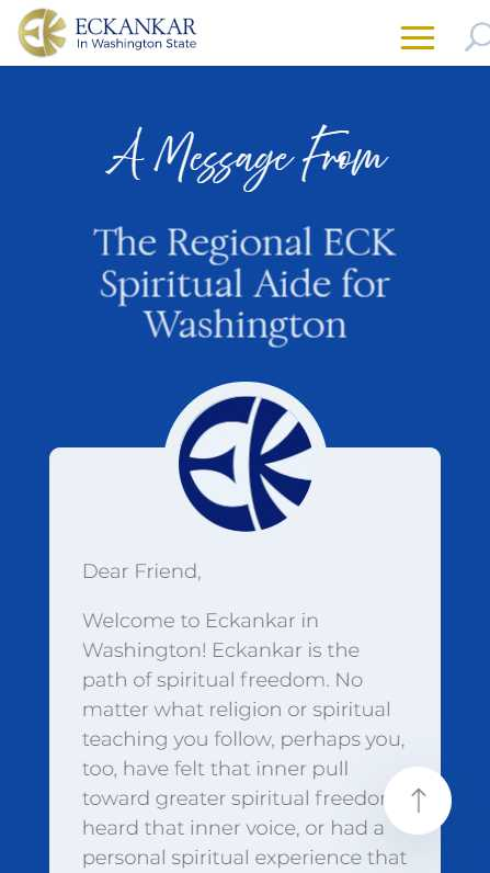Eckankar in Washington State - mobile screenshot - message from RESA