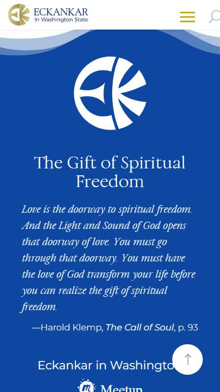 Eckankar in Washington State - mobile screenshot - footer