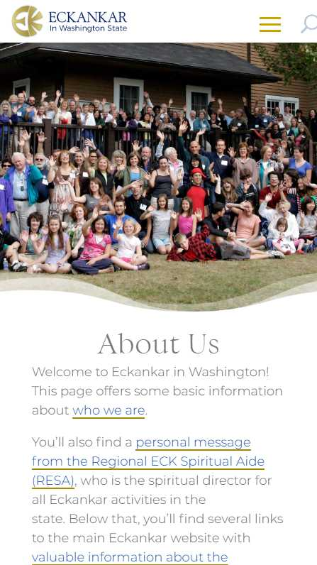 Eckankar in Washington State - mobile screenshot - about