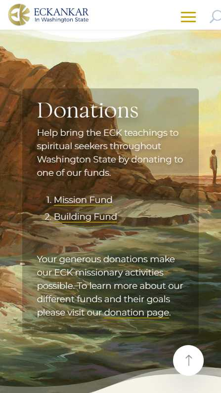 Eckankar in Washington State - mobile screenshot - donations