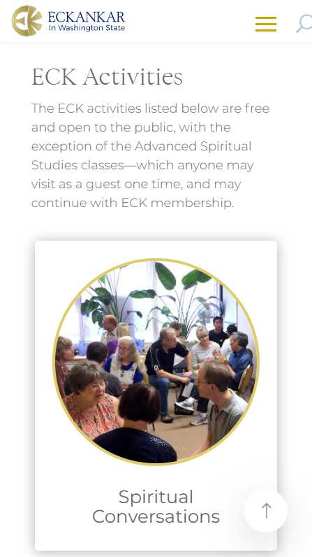Eckankar in Washington State - mobile screenshot - activities