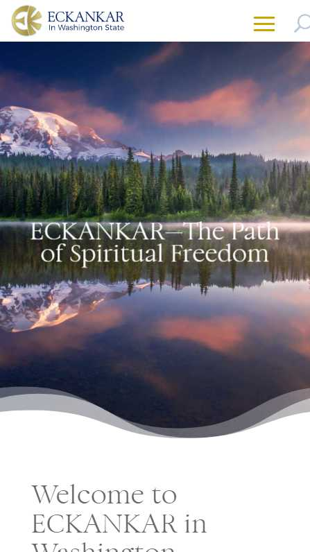Eckankar in Washington State - mobile screenshot - home splash