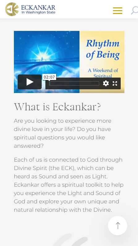 Eckankar in Washington State - mobile screenshot - What is Eckankar?
