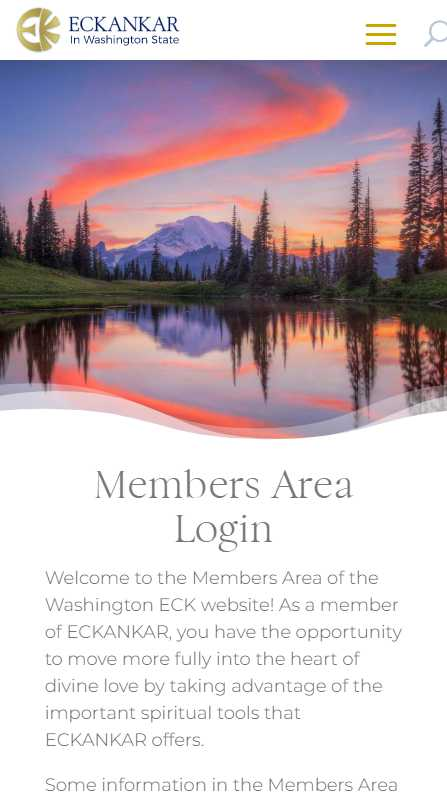 Eckankar in Washington State - mobile screenshot - members area