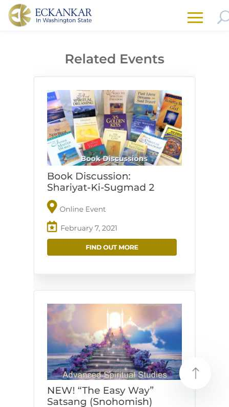 Eckankar in Washington State - mobile screenshot - related events