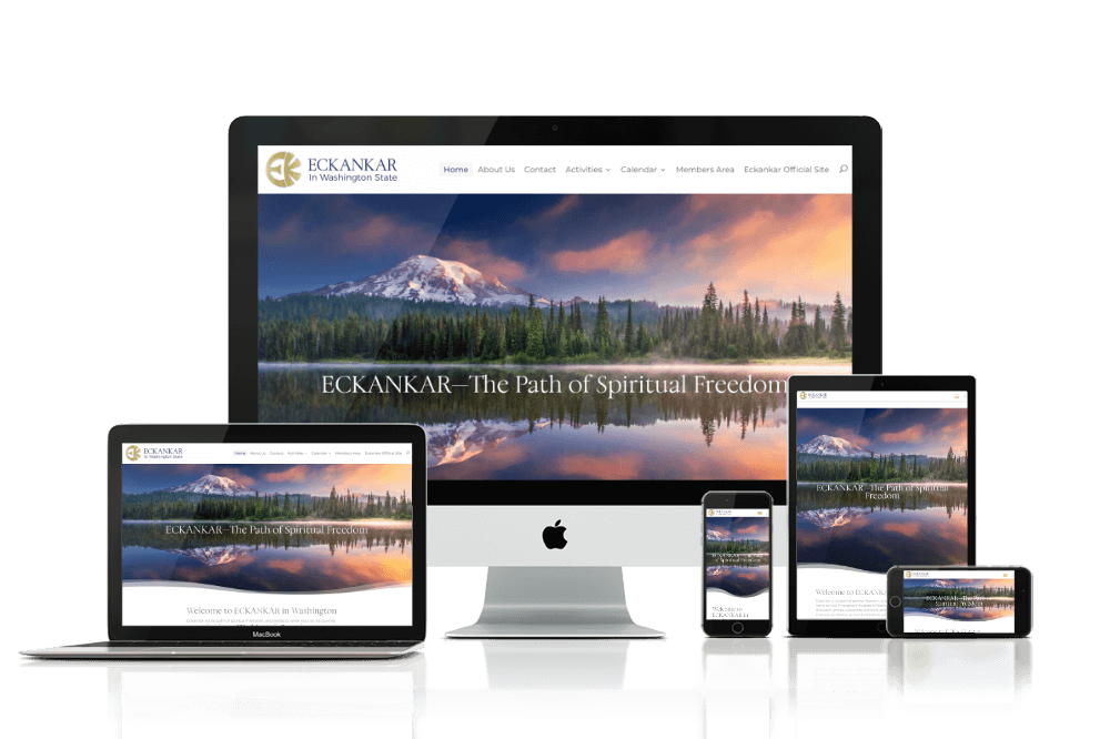 Eckankar in Washington website device mockup