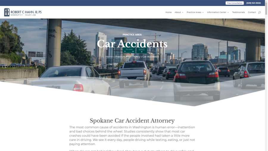 screenshot - car accidents page
