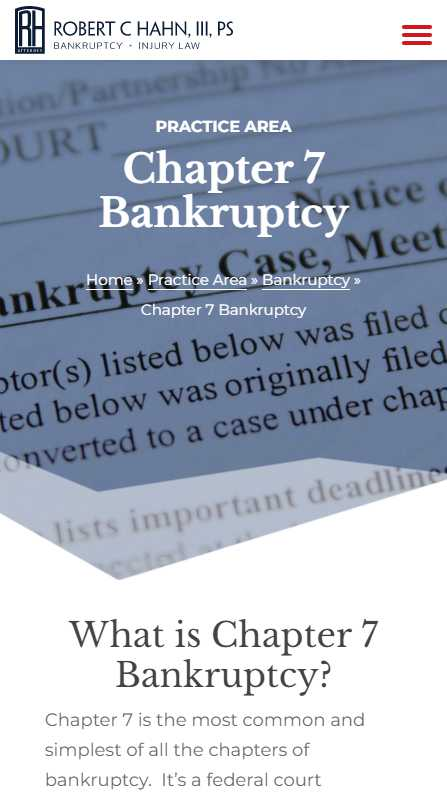 rhahn.com - mobile screenshot - Chapter 7 Bankruptcy
