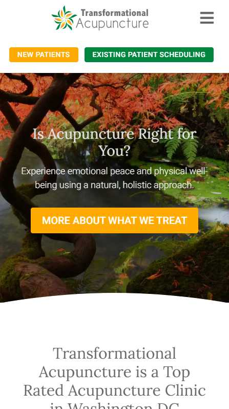 Transformational Acupuncture - - mobile screenshot